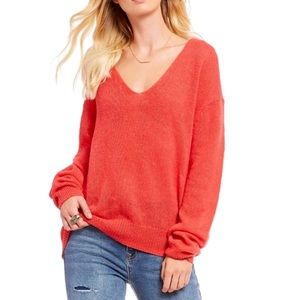 Free People Gossamer V-Neck in Coral